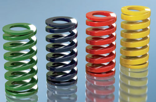 compression spring / flat wire / steel / for molds