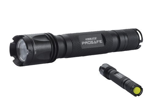 LED flashlight / tactical / water-resistant