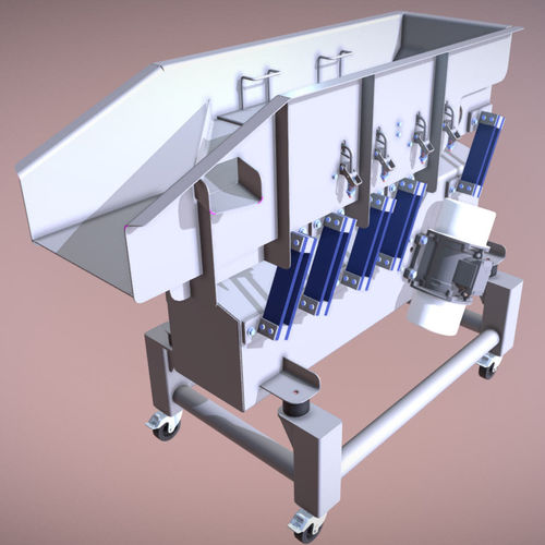 natural frequency conveyor / for the food industry / for bulk materials / screening
