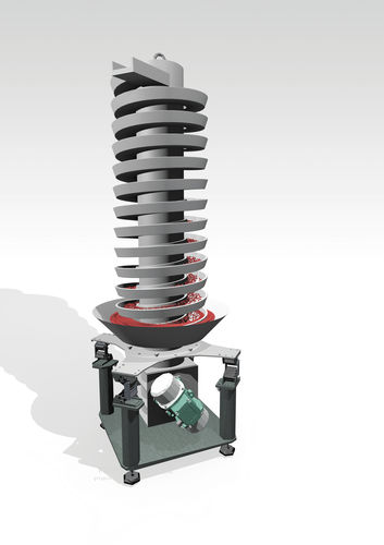 spiral conveyor / vibrating / for the food industry / for the pharmaceutical industry