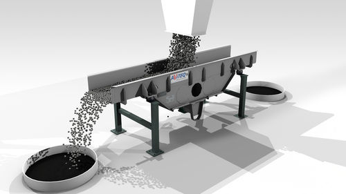 conveying channel / vibrating / for the food industry / for the recycling industry