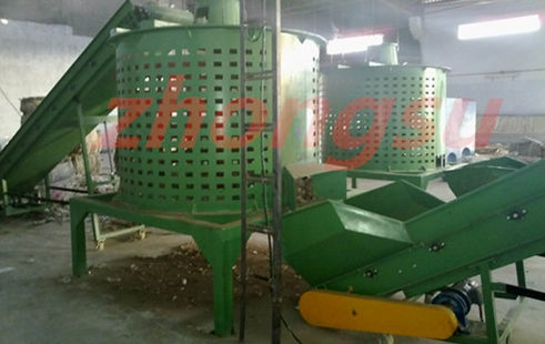 plastic recycling bale opener