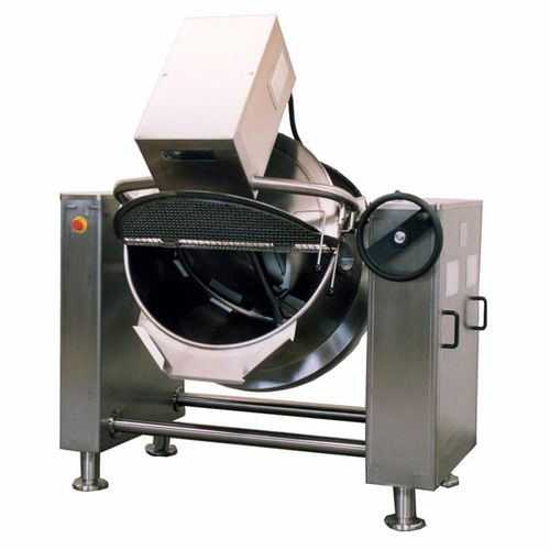 boiling pan for the food industry / reclining / steam / pressure