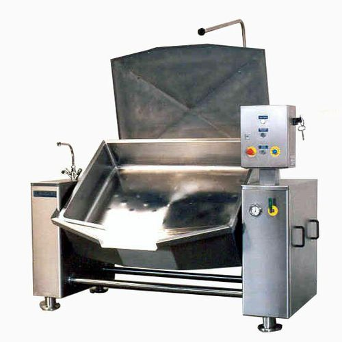 steam industrial cooker / reclining / stainless steel