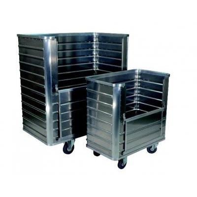 transport cart / aluminum / for linen / multipurpose