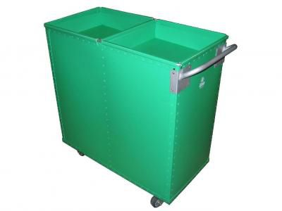 storage cart / plastic / multipurpose / with swivel casters