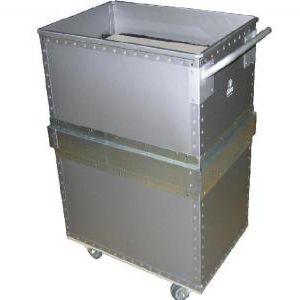 storage cart / plastic / 2 levels / platform