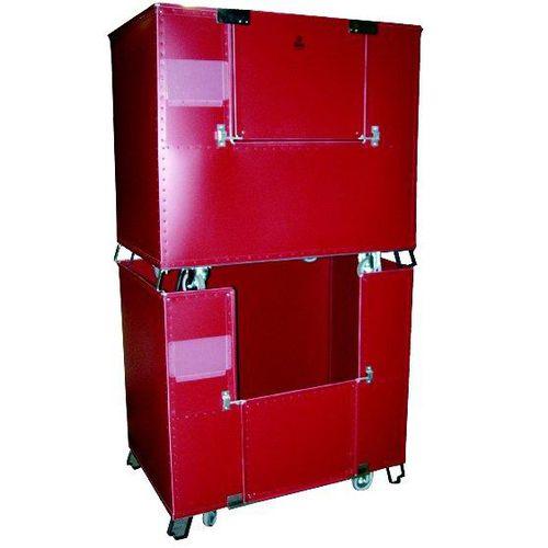 storage cart / galvanized steel / multipurpose / with swivel casters