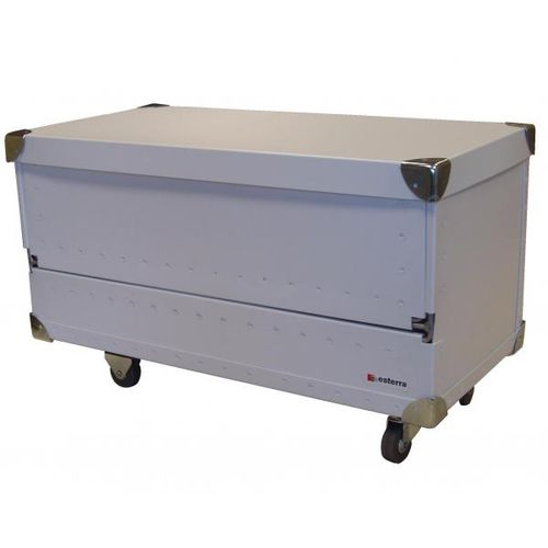 transport case / polypropylene / wheeled / custom