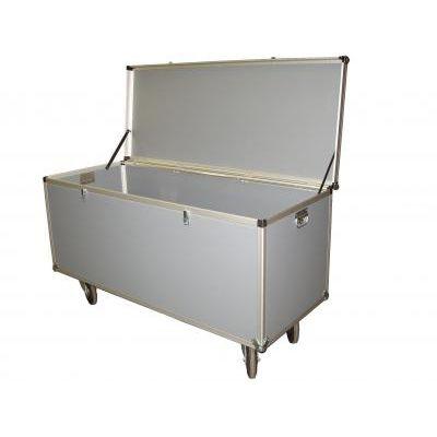 transport case / aluminum / wheeled / custom