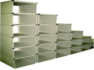 merchant shelving / light-duty / modular / with shelves