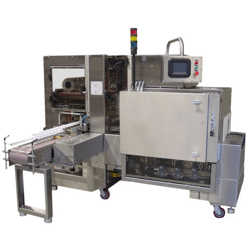 shrink wrapping machine with sealing bar