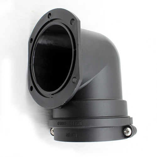 snap-in fitting / flange / 90° angle / PA
