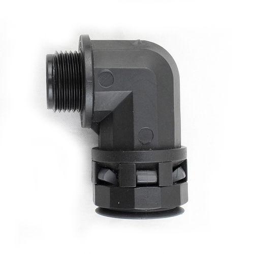 screw-in fitting / quick / 90° angle / nylon