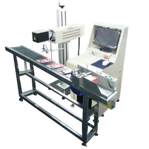 CO2 laser marking machine / automatic / air-cooled / for non-metals