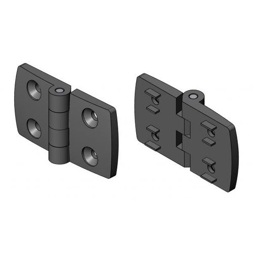 polyamide hinge / corner / screw-in / 180°