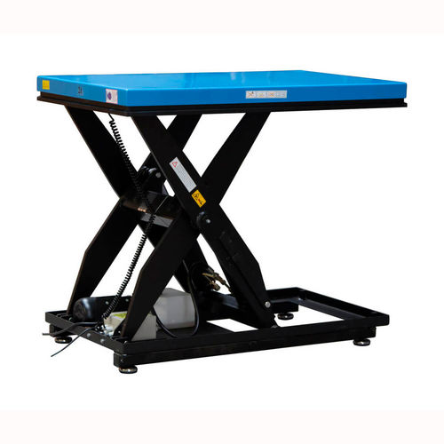 scissor lift table / electric / mobile / with built-in scale