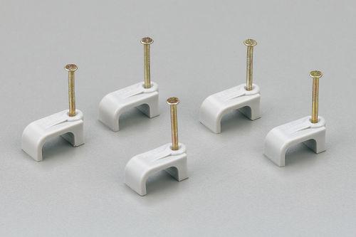 flat cable clip / plastic / fixing