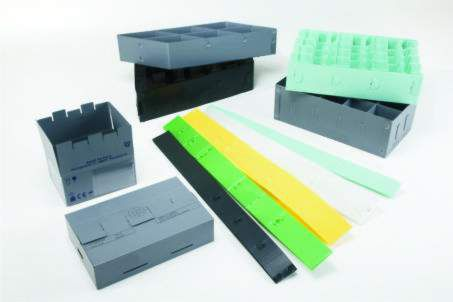 rectangular box / plastic