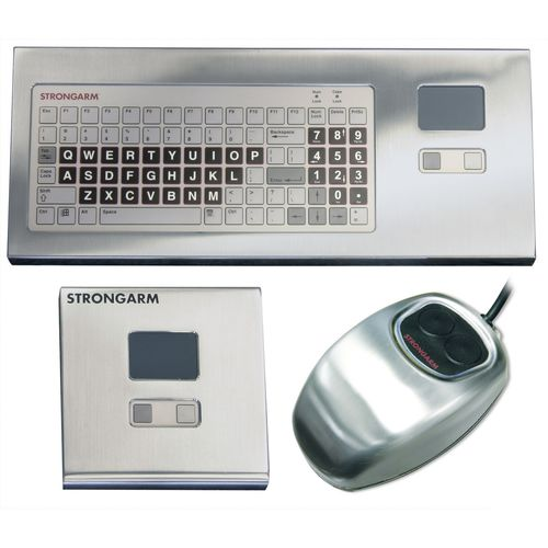 panel-mount keyboard / with mechanical keys / with touchpad / with trackball