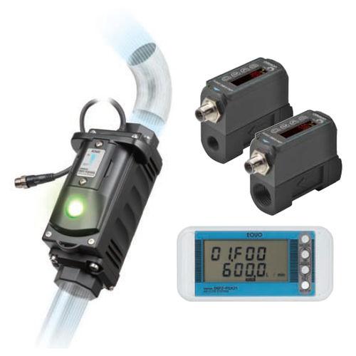 air flow sensor / with integrated digital display / high-precision