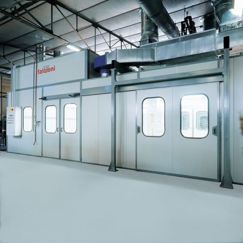 enclosed paint booth / for vehicles / filter / pressure