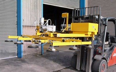 glass plate vacuum lifting device / pivoting