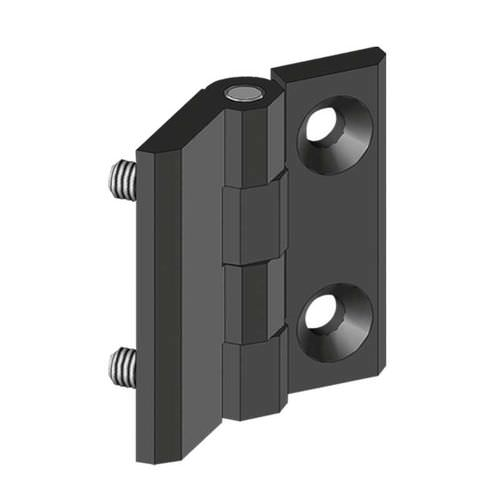 die-cast zinc hinge / corner / screw-in / 270°