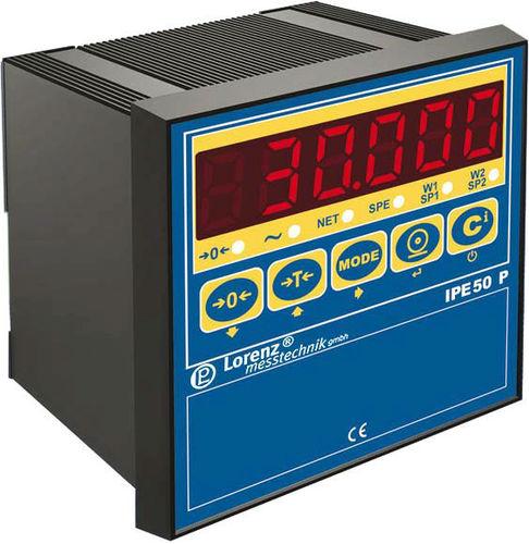 digital weight indicator / LED display / panel-mount