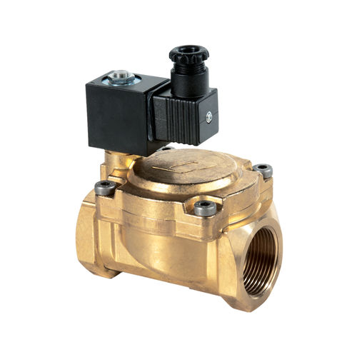pilot-operated solenoid valve / 2-way / NC / for gas