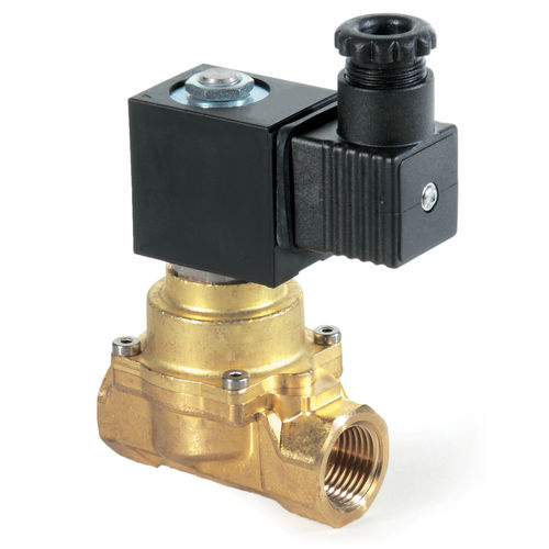 pilot-operated solenoid valve / 2-way / NC / water