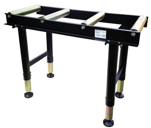 roller conveyor / height-adjustable / for saws