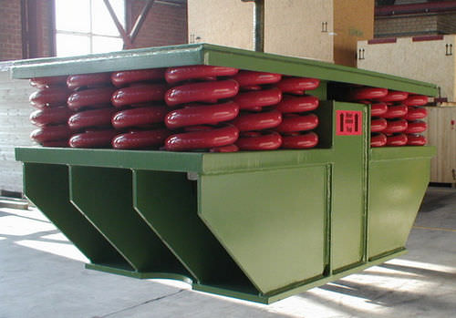 square anti-vibration mount / for machines / for heavy loads / spring damper