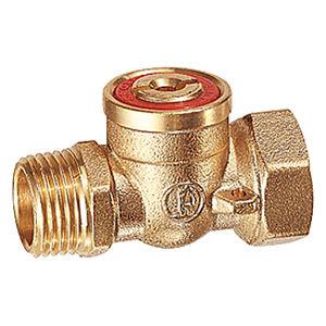 ball valve / manual / male-female / brass