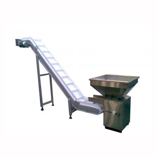 belt conveyor / for lifting / for packaging lines