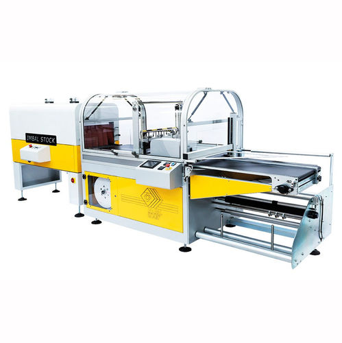 side-sealer shrink wrapping machine / fully-automatic / box / for bottles