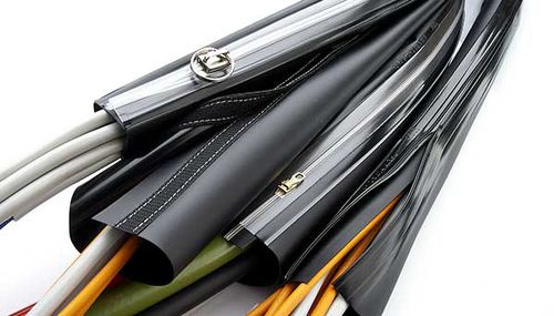 protection sleeve / tubular / for cables / PVC