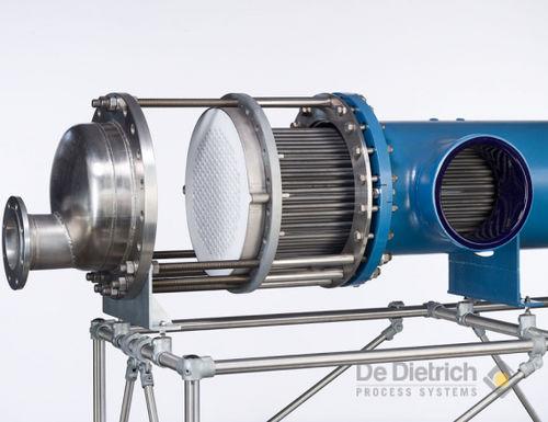 tubular heat exchanger / liquid/liquid / stainless steel / corrosion-resistant