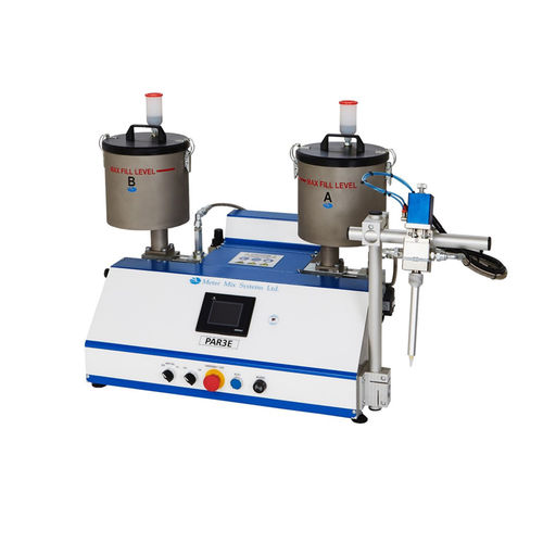 mixing and metering unit with piston pump / resin / two-component / benchtop