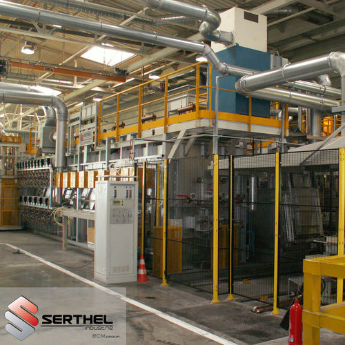 carbonitriding furnace / oil quenching / chamber / tunnel