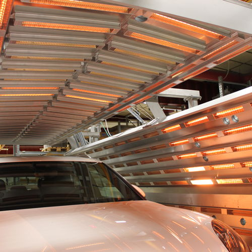 infrared drying tunnel
