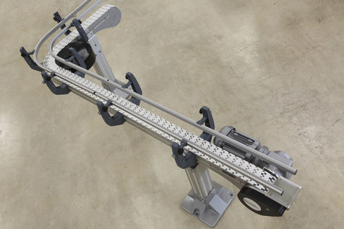 chain conveyor / for the food industry / for the automotive industry / with lower level return
