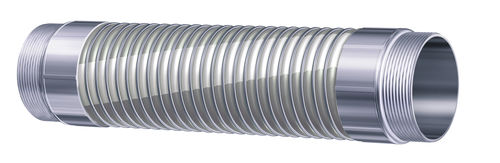 chemical product hose / polypropylene / standard / stainless steel-braided