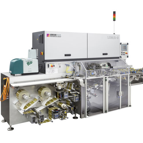 2-lanes packaging machine / automatic / fold wrapping / for chocolate products