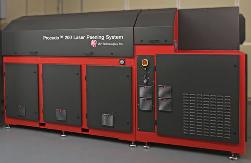 surface treatment machine for laser applications