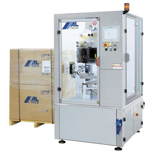 pallet labeler / automatic / for self-adhesive labels / in-line