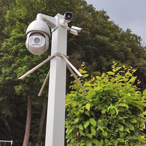 video surveillance mast