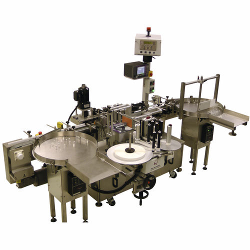 high-speed labeler / automatic / vision system / rotary