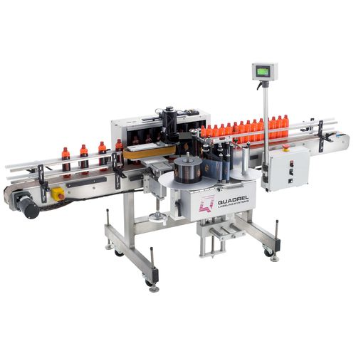 automatic labeler / for bottles / top / in-line