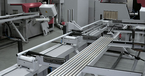 bar feeder with bar magazine / automatic / for round bars